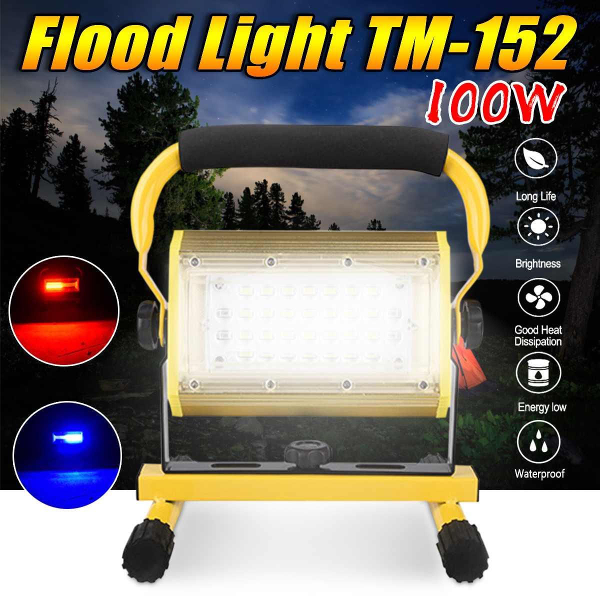 2400lm 100 W LED Portable Lumière D'inondation D'ÉPI lampe de poche LED Lumière De Travail Imperméable À L'eau IP65 pour le Camping En Plein Air