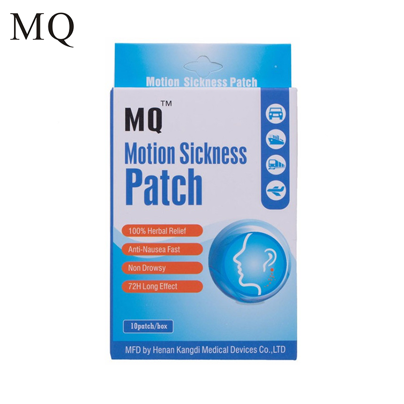 Sickness Patch Behind Ear Car Motion Chinese Herbal Medical Plaster Health Care Anti-Nausea Relief Sickness Patch 10pcs lot