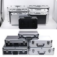 portable aluminum Aluminum alloy portable password toolbox document file makeup storage organizer confidential mobile cash safety box flight case (3)