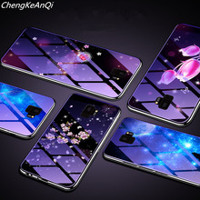 Blue Ray Tempered Glass Case For Samsung Galaxy S9 Plating Blue Light Luxury Glass Cases For Samsung Galaxy S8 Phone Bag Cover