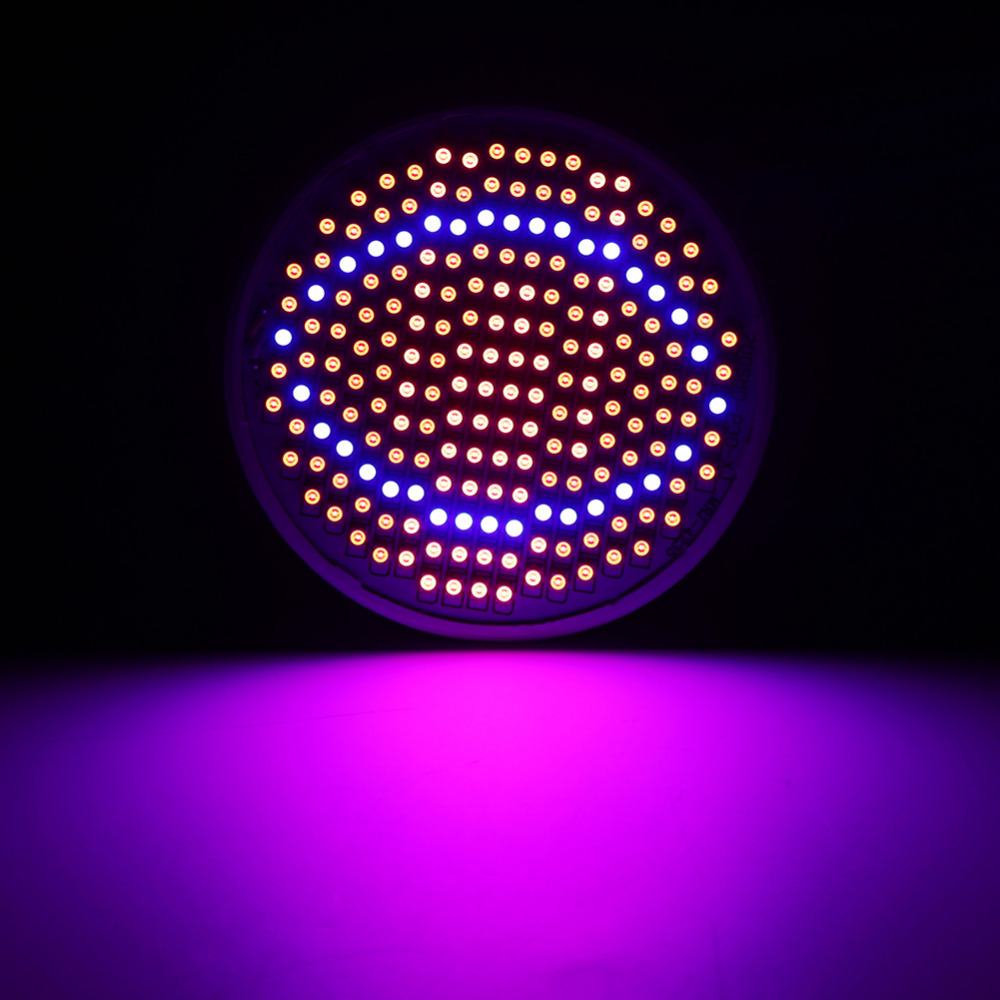 24W 200LED Plant Grow Light E27 Red+Blue Hydroponic Flowers Veg Growing Lamps