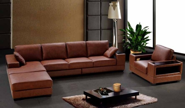 The Very High Grade All Leather Sofa Imported Oil Wax Layer Combination