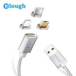 Elough E04 Magnetic Cable For iPhone Samsung Xiaomi Fast Charging Magnet Charger Micro USB Type C for Lightning Phone USB Cable