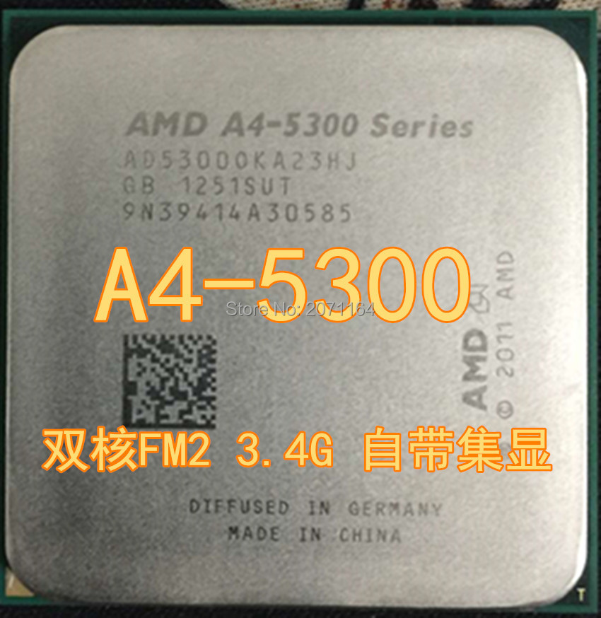 For Amd A4 5300 Fm2 Dual Core Cpu Integrated Graphics Desktop In Processors From Computer Office