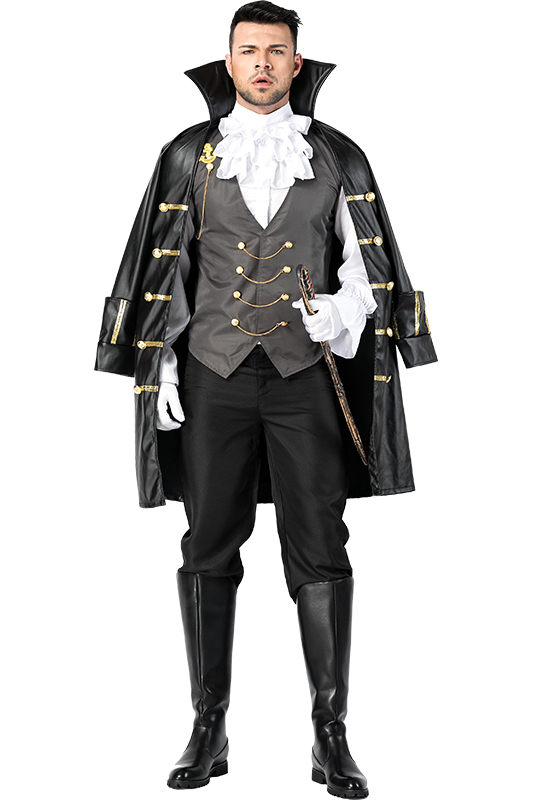 New Arrival Adult Men Pirate Costumes Full Suit Outfit Halloween Carnival Party Cosplay Costumes