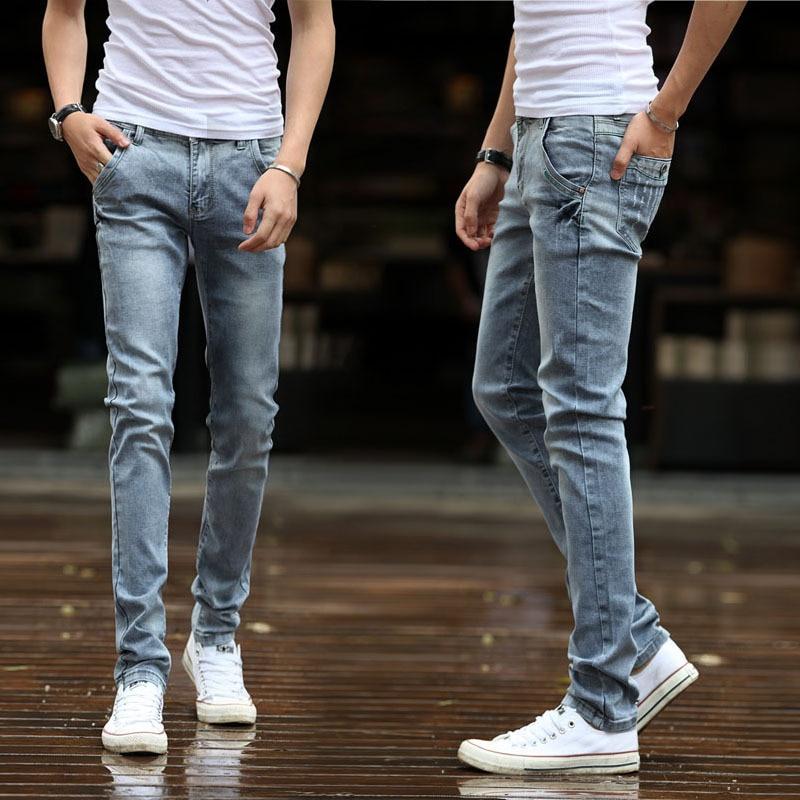 2018 feet pants pencil pants stretch cotton denim leggings