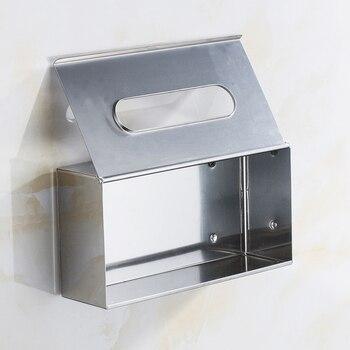 Vidricpaper titular de aço inoxidável papel higiênico tecido puxar caixas banho sala desktop srorage organizadores suporte do telefone wc papel WF-1