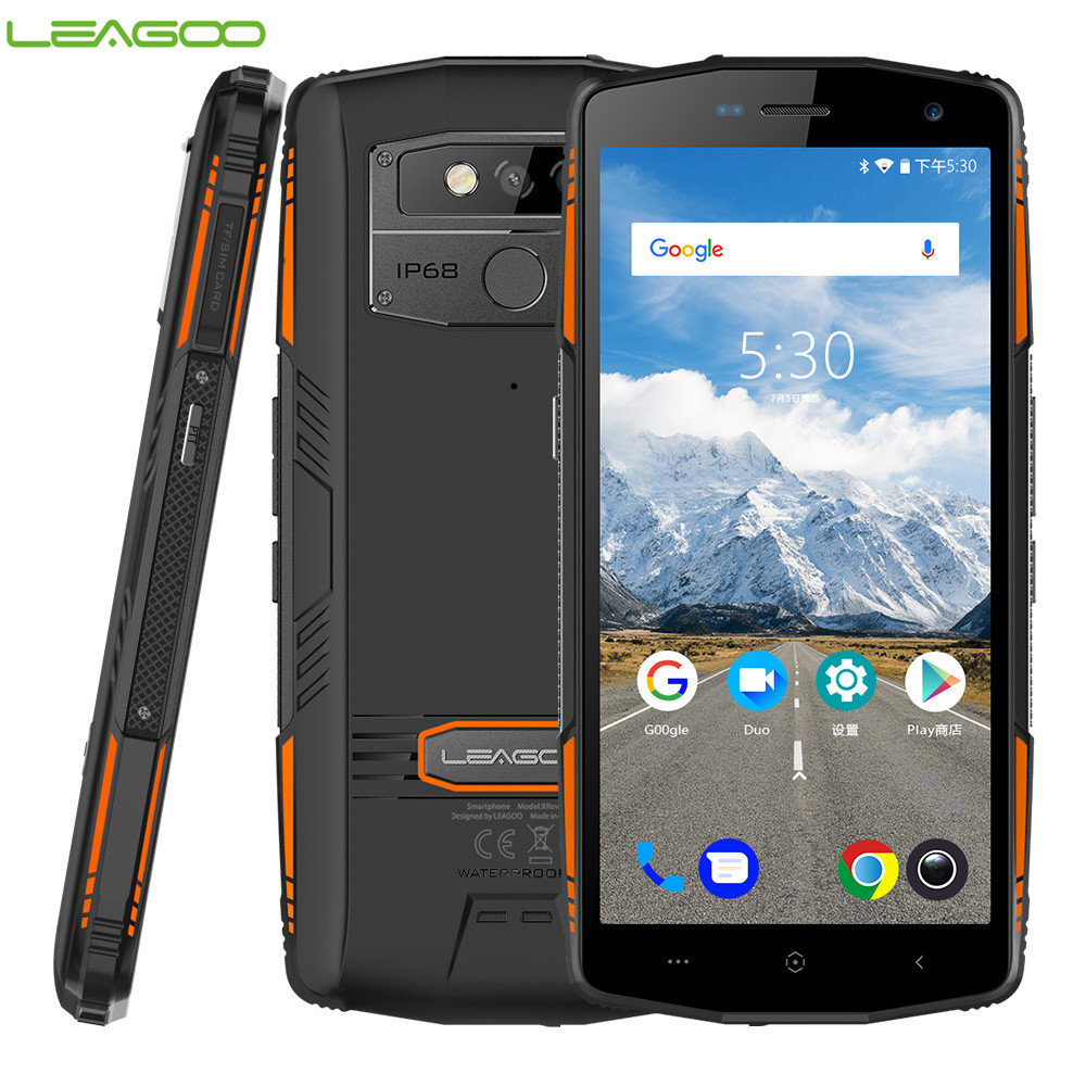Versão Global LEAGOO IP68 XRover NFC Face ID 4G Smartphone 5000 mAh 9V2A 6 GB 128 GB Android 8.1 13MP Dual Cams Traseira Do Telefone Móvel