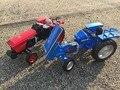 Kdw 1:18 modelo de coche tractor material metálico kids toys volante ligado rueda delantera niños como el regalo