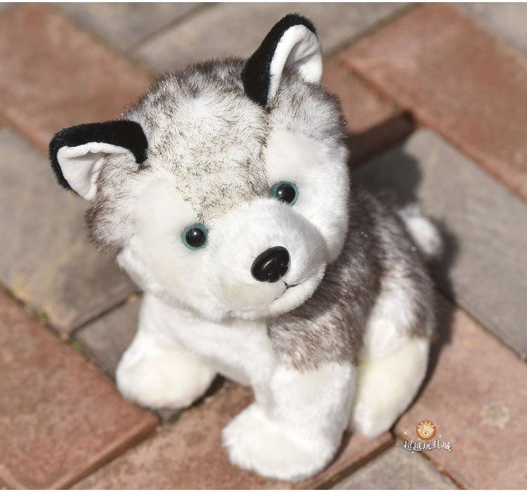 Image 3 - Kawaii Puppy Stuffed Toys 10/20cm Cute Simulation Husky Dog Plush Toys Stuffed Doll Kids Baby Toys Plush Husky Dolls-in Stuffed & Plush Animals from Toys & Hobbies
