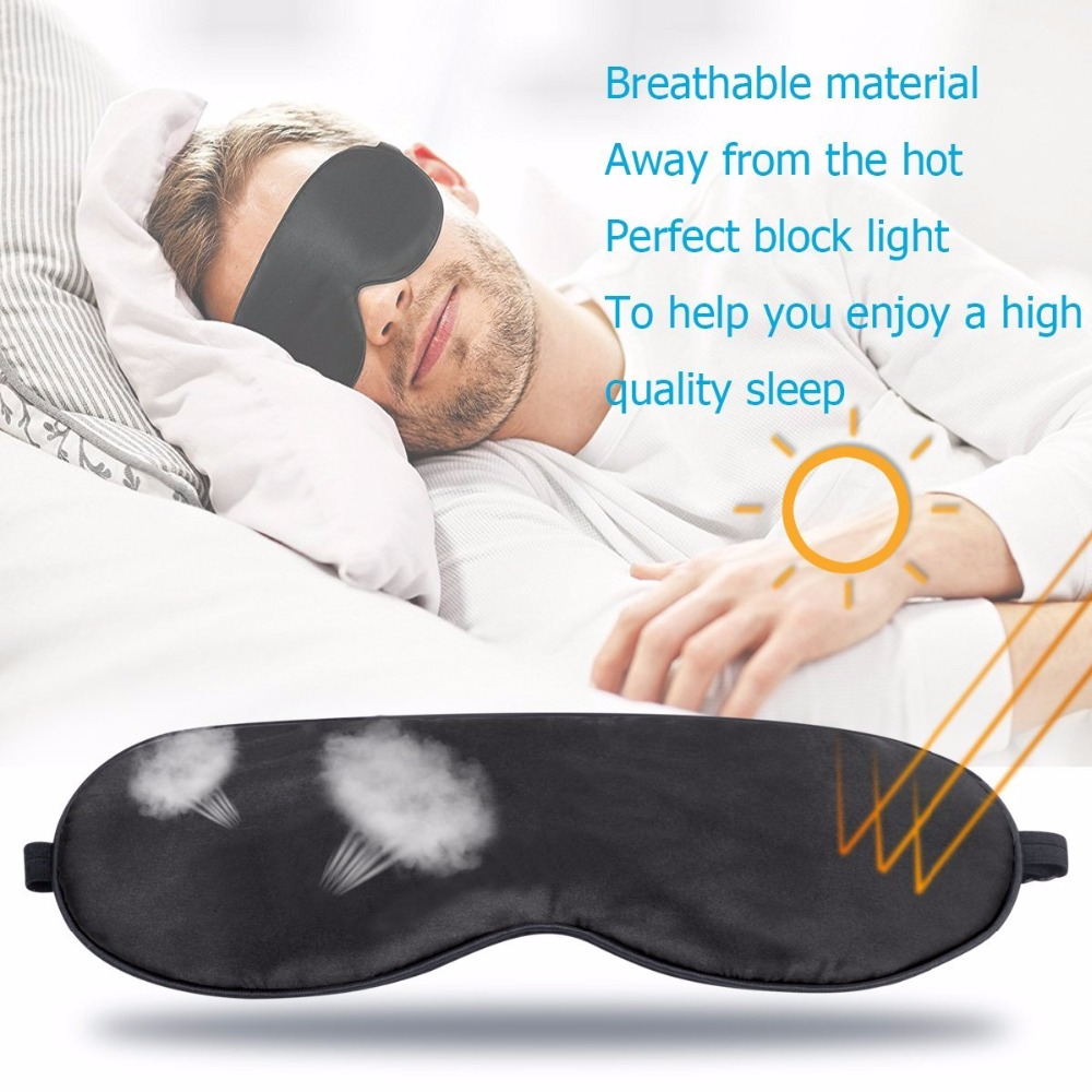 Mulberry Silk Mask Sleep EyeShade Eye Mask Blindfold Shield Cover Travel Sleep Rest Aid Eye Care Tool Business Trip Relax Gadget 5