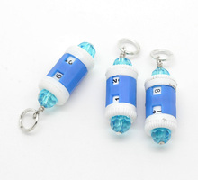 Hoomall 4PCs Plastic Designed Beaded Stitch Marker Knitting Row Counter