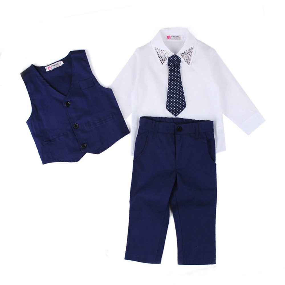 Baby Boys Clothes Set Cotton Long Sleeve Gentleman Suit For Boys Children Clothing Kids Party Costume 2 3 4 5 6 7 Years 2018 autumn children clothing set for boys cotton kids tops and pants 2pcs set tracksuit 2 3 4 5 6 9 years fashion kids clothes