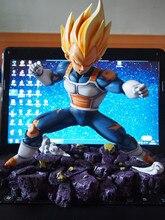 VENTILADORES MODELO de Dragon ball 25 cm Super saiyan Vegeta resina GK modelo muñeca Figura de Acción de Colección Modelo Juguetes