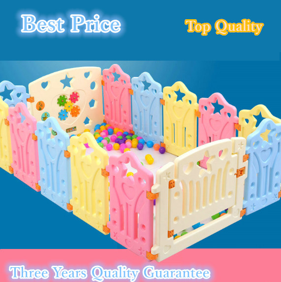 2.4 sqaure meters Child game fence baby crawling  safety fence toddler  playpen baby colorful game playpen toy fence learning railing stairs balcony safety protecting net baby safety fence child safety products 2 3 meters white color