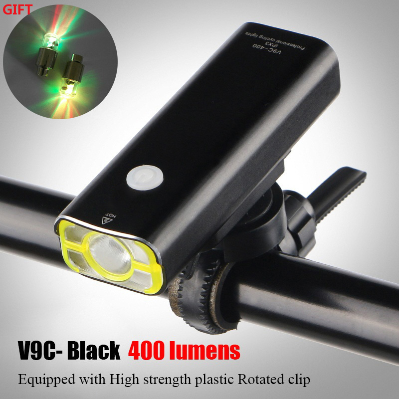 400 Lumen USB Bicycle Light Waterproof LED Lamp 4 Modes Light Rechargeable Bike Light LED Front Handlebar Cycling Light WHEEL UP wheel up bike head light cycling bicycle led light waterproof bell head wheel multifunction mtb lights lamp headlight m3014
