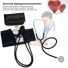 Aneroid Sphygmomanometer Cuff Kit Upper Arm Blood Pressure Stethoscope With Zipper Bag for Adult
