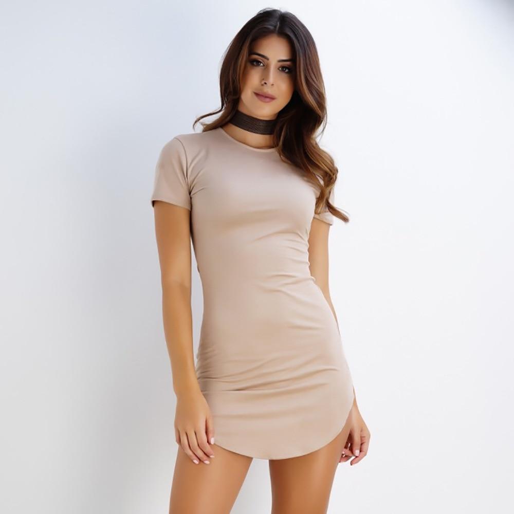2019 Summer Women Dress Sexy Slim Soild O-neck Short Sleeve Dresses White/Black Bandage Dress Femme Vestiods D0390 see through angel shirt