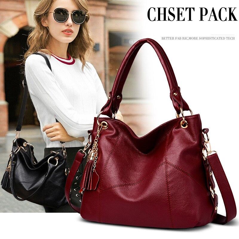 Luxury Handbags Women Tote Bag Designer 2019 Tassel Soft Large Leather Women Bags Ladies Shoulder Bags Sac A Main Femme