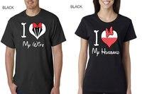 Ben Karımı Seviyorum ve Ben Aşk Benim Koca severler çift t shirt ABD artı boyutu XS-3XL