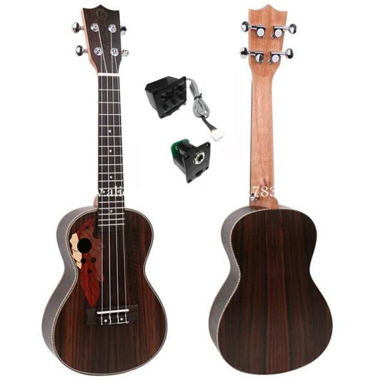 High End 23 tums ukulele Med Full Rosewood Top / Body, Grape Sound - Musikinstrument
