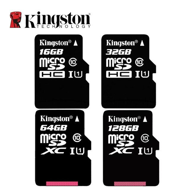 קינגסטון C10 זיכרון כרטיס 128 gb 64 gb 32 gb 16 gb U1 עד 80 mb/s מיקרו SD כרטיס class 10 SDHC SDXC מיני SD כרטיס UHI-S פלאש כרטיס