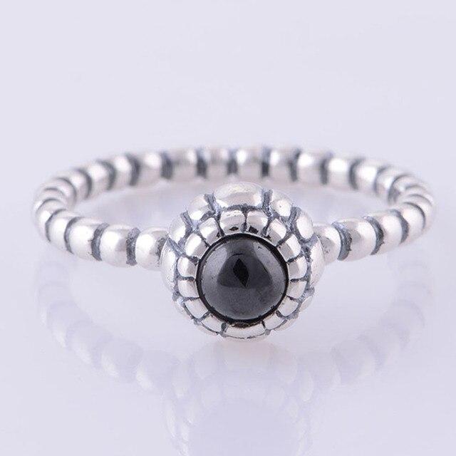 Original 925 Sterling Silber Geburt Stein Ring Vintage