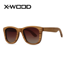 X-WOOD New Fashion Rivet Square Zebra Wood Polarized Sunglasses Men Women Wooden Sunglass Men G15 Green Goggles Sun Glasses