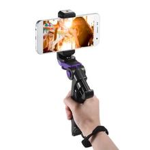 Uniwersalny Mini statyw do telefonu statyw ręczny stabilizator z regulowanym uchwytem do klipsa Smartphone uchwyt do iphonea dla samsunga