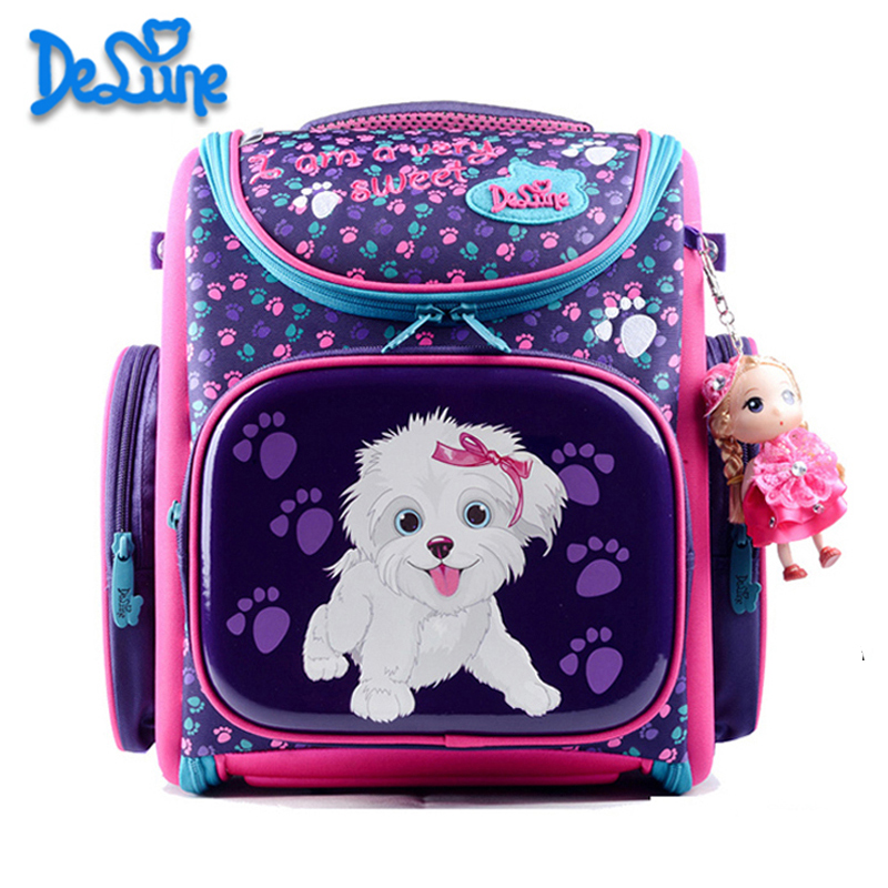25a5f6e56f Delune 2018 New European Children School Bag Girls Boys Backpack Cartoon Mochila  Infantil Large Capacity Orthopedic Schoolbag-in School Bags from Luggage ...
