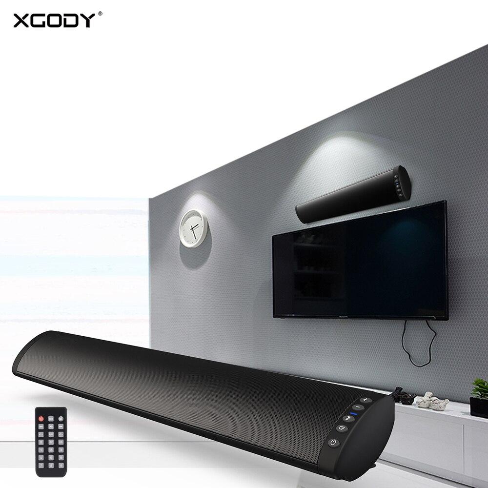 Lautsprecher Soundbar Xgody Bs-41 20 W Schreibtisch Wand-montiert Tv Soundbar Stereo Bass Heimkino Lautsprecher Bluetooth 5,0 Lautsprecher Unterstützt Tf Aux Optische Rohstoffe Sind Ohne EinschräNkung VerfüGbar