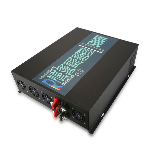 5000W Pure Sine Wave Solar Inverter 12 220 Car Power Inverter Motor Converter Power Supply 12V/24V/48V DC to 120V/220V/240V AC