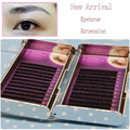 New arrival 3trays/lot I curl eyebrow extensions black color 0.1 thickness 5mm 6mm natural false eyebrows extensions