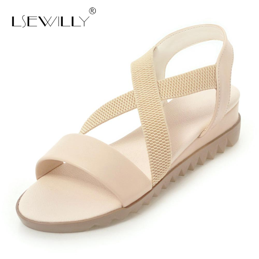 6d83c71028a Lsewilly Small Wedge Heels Sandals Women Shoes Casual 2018 Summer Gladiator  Sandals Woman Fashion Beach Shoes Size 34 43 S247-in Low Heels from Shoes  on ...