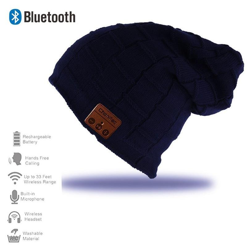 2017 New Fashion Warm Beanie Hat Wireless Bluetooth Smart Music Mp3 Cap Headphone Headset Speaker Mic Magic Sport Knitted Hats edt bluetooth music beanie hat soft warm cap with stereo headphone headset speaker