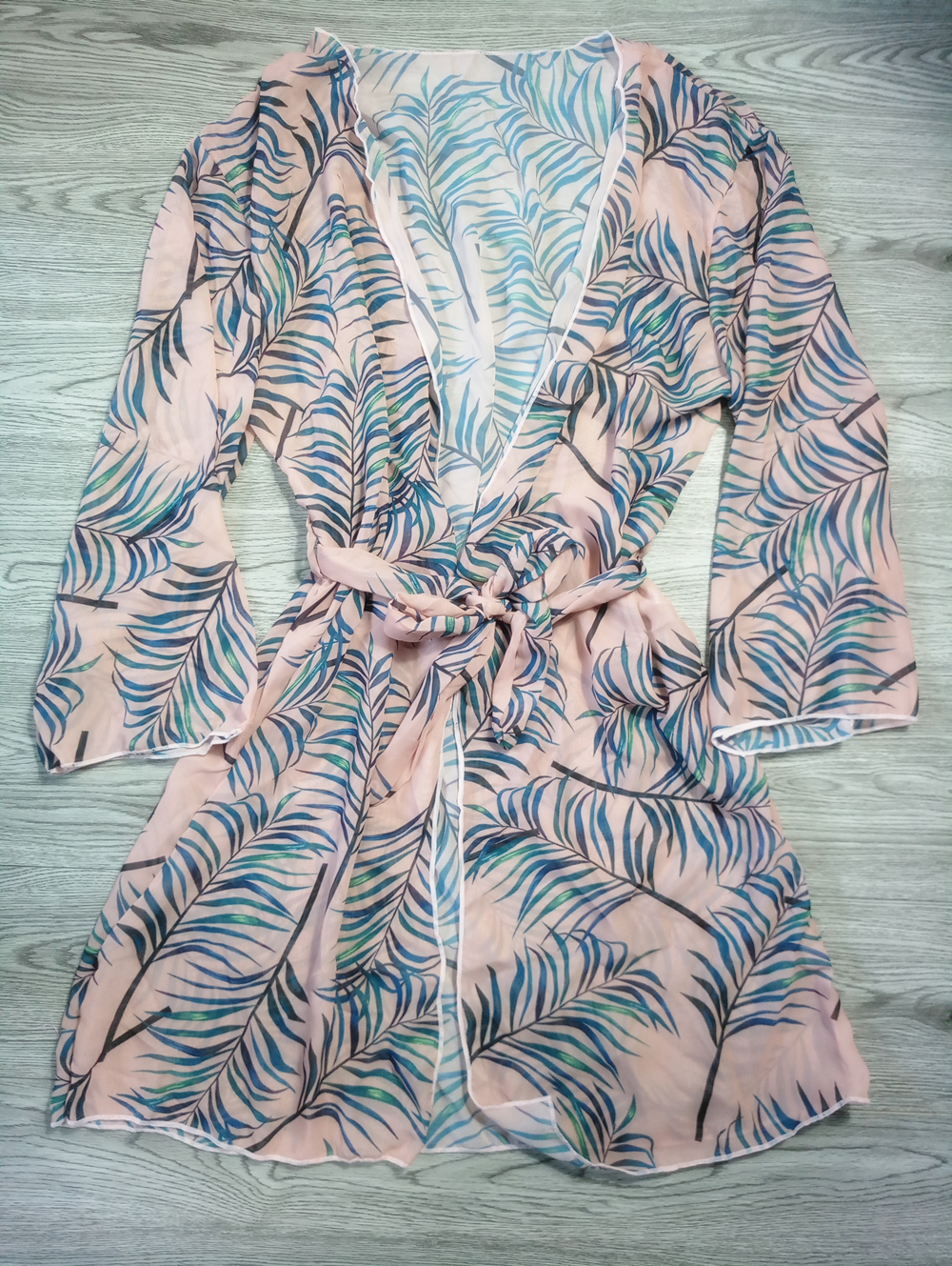 2019 Pareo Beach Cover Up Leaf Printing Bikini Cover Up Swimwear Women Robe De Plage Beach Cardigan Bathing Suit Cover Ups