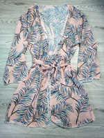 2019 paréo Plage couvrir feuille impression Bikini couvrir maillots De bain femmes Robe De Plage Plage Cardigan maillot De bain couverture Ups