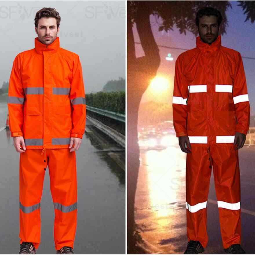 Regenmantel Regen Hosen Anzug Wasserdichte Motorrad Regen Jacke Anzug Regenbekleidung Mann Wandern Angeln Regen Verkehrs