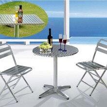 Открытый алюминиевый складной стол и стул набор для отдыха на открытом воздухе стол и стул