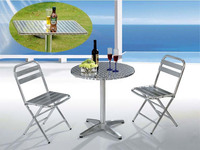 Outdoor Aluminum Folding Chair And Table Set Outdoor Leisure Chair And Table