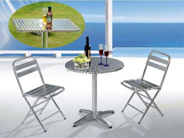 Silla y mesa plegable de aluminio al aire libre silla del ocio al aire libre y de mesa