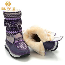 Boots women waterproof winter shoes snow boots plush warm fur antiskid outsole girl nice Buffie brand shoes style fashion shoes