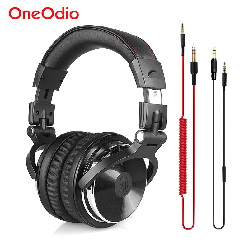 Oneodio Professional DJ Headphones Studio Monitor DJ Headset With Microphone Bass Wired Gaming Headset For Phone PC PS4 Xbox one oneodio dj headset earphone with microphone pc wired over ear hifi studio dj headphone professional stereo monitor urbanfun