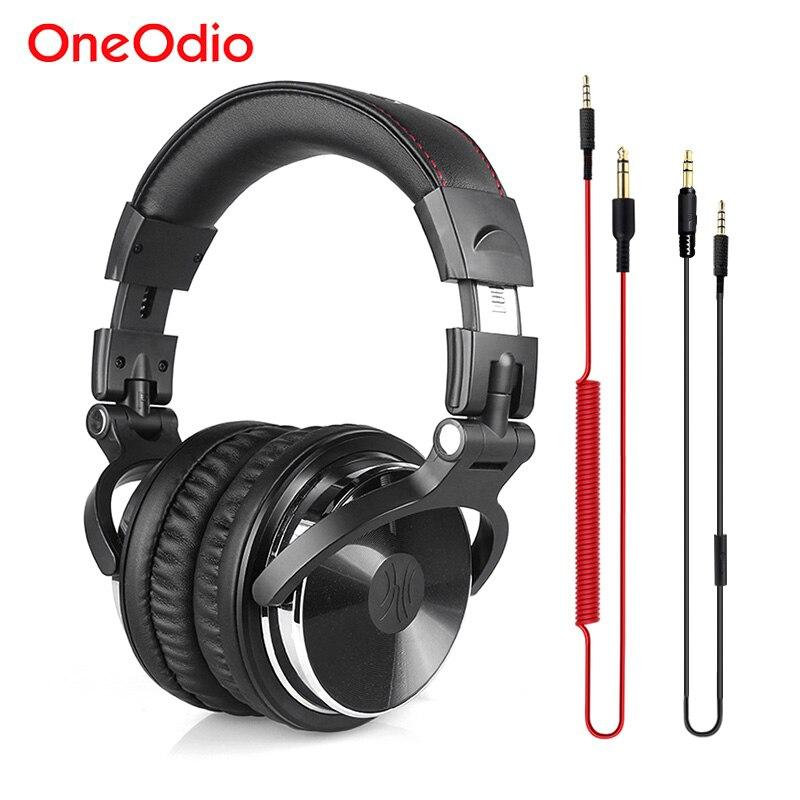 Oneodio Professionali per DJ Cuffie Monitor da Studio DJ Cuffia Con Microfono Bass Wired Gaming Headset Per Il Telefono PC PS4 Xbox one