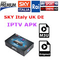 Caixa Android Com Canais de IPTV APK Céu Itália REINO UNIDO Alemanha Céu Primafila Mediaset Premium Para Smart TV M3U IOS Enigma2 Linux livre