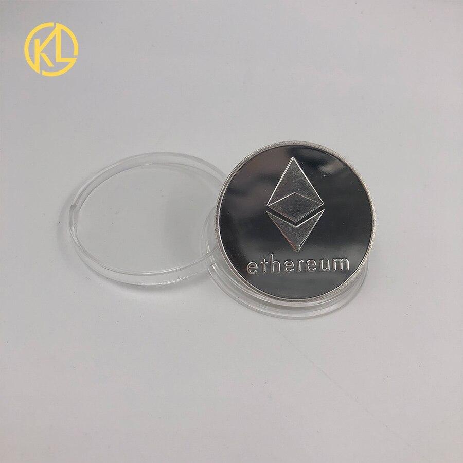 CO012 позолоченный эфириум классическая монета памятная монета художественная коллекция подарок физическая имитация из металла вечерние украшения для дома - Цвет: CO-011-2