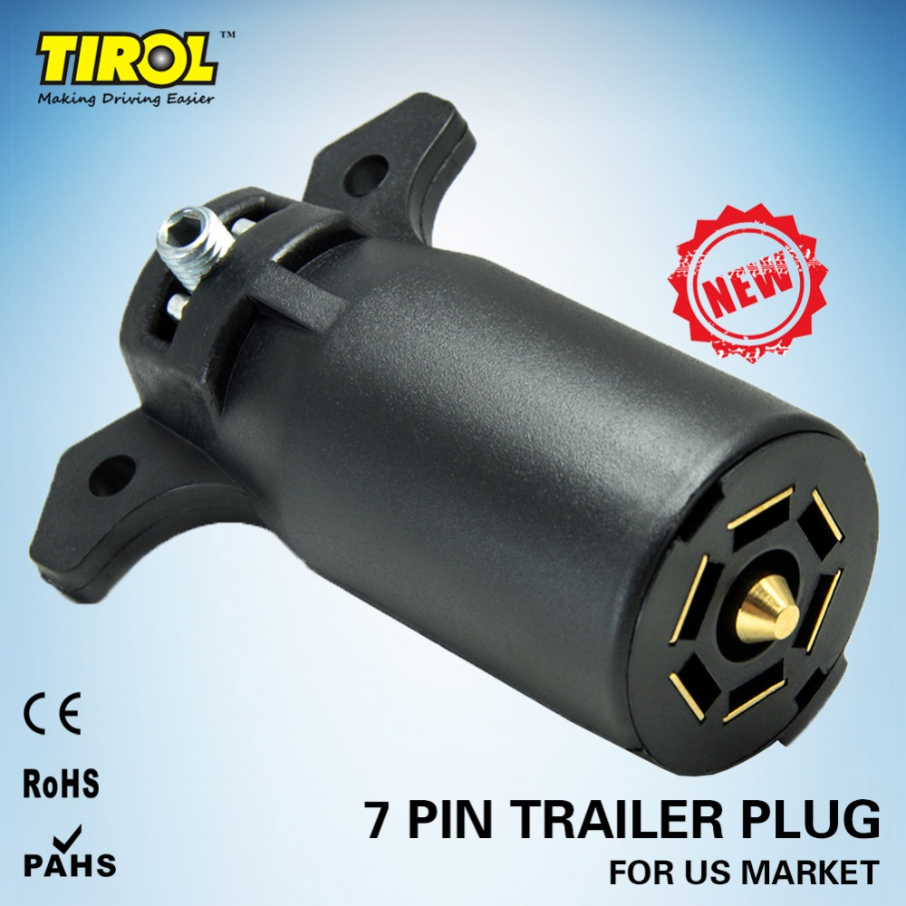 7 Way 7 Poles Round Trailer Connector Male and Female RV Plug Connector