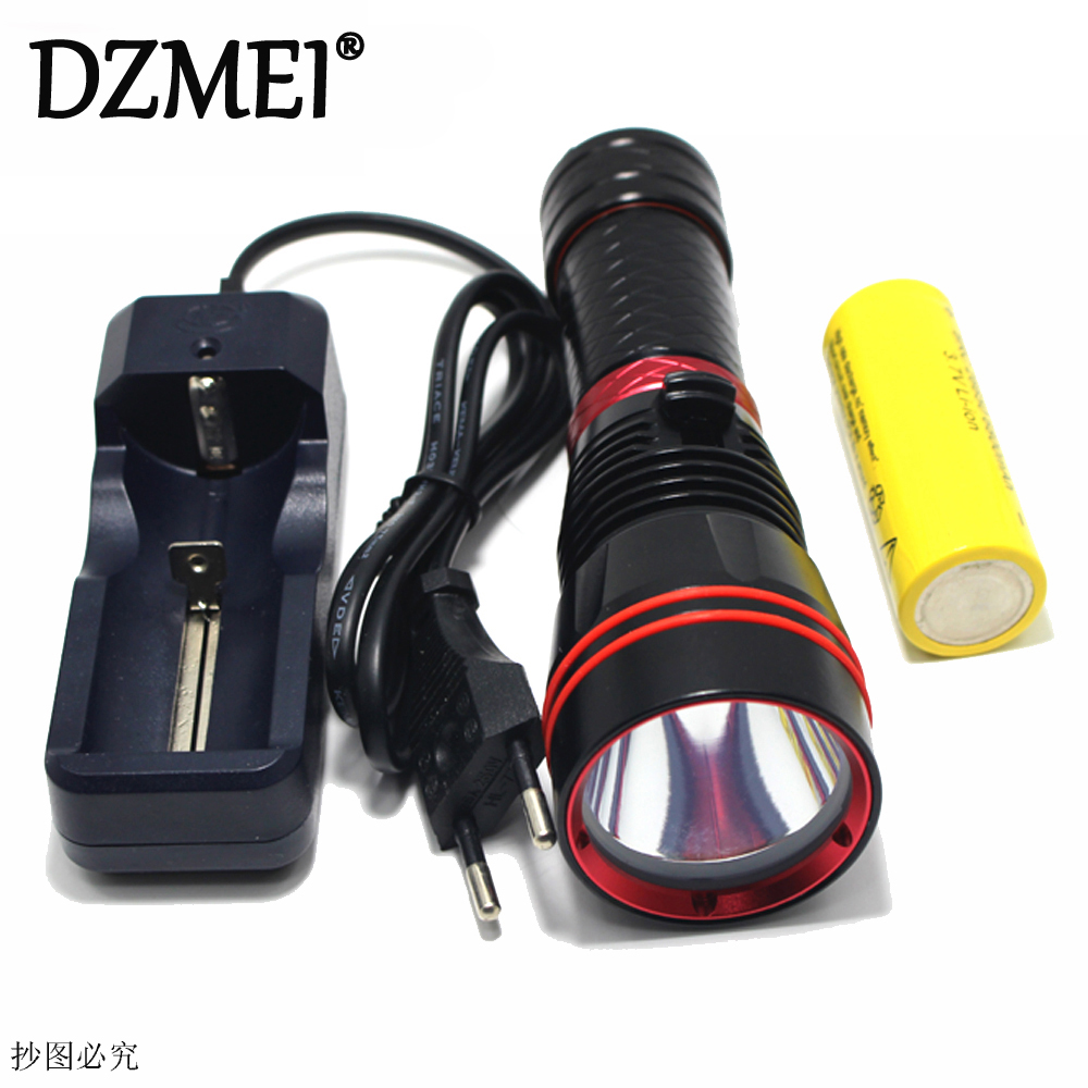 3800Lm XM-L2 U2 LED Dive 100 Meter Waterproof Underwater Diving Flashlight Torch Lamp Light Lighting LED 1*26650 Batteries&Charg rockbros mountain bike bicycle pedal mtb road bike ultralight pedals aluminum alloy axle 9 16 cycling seald bearing bmx pedal