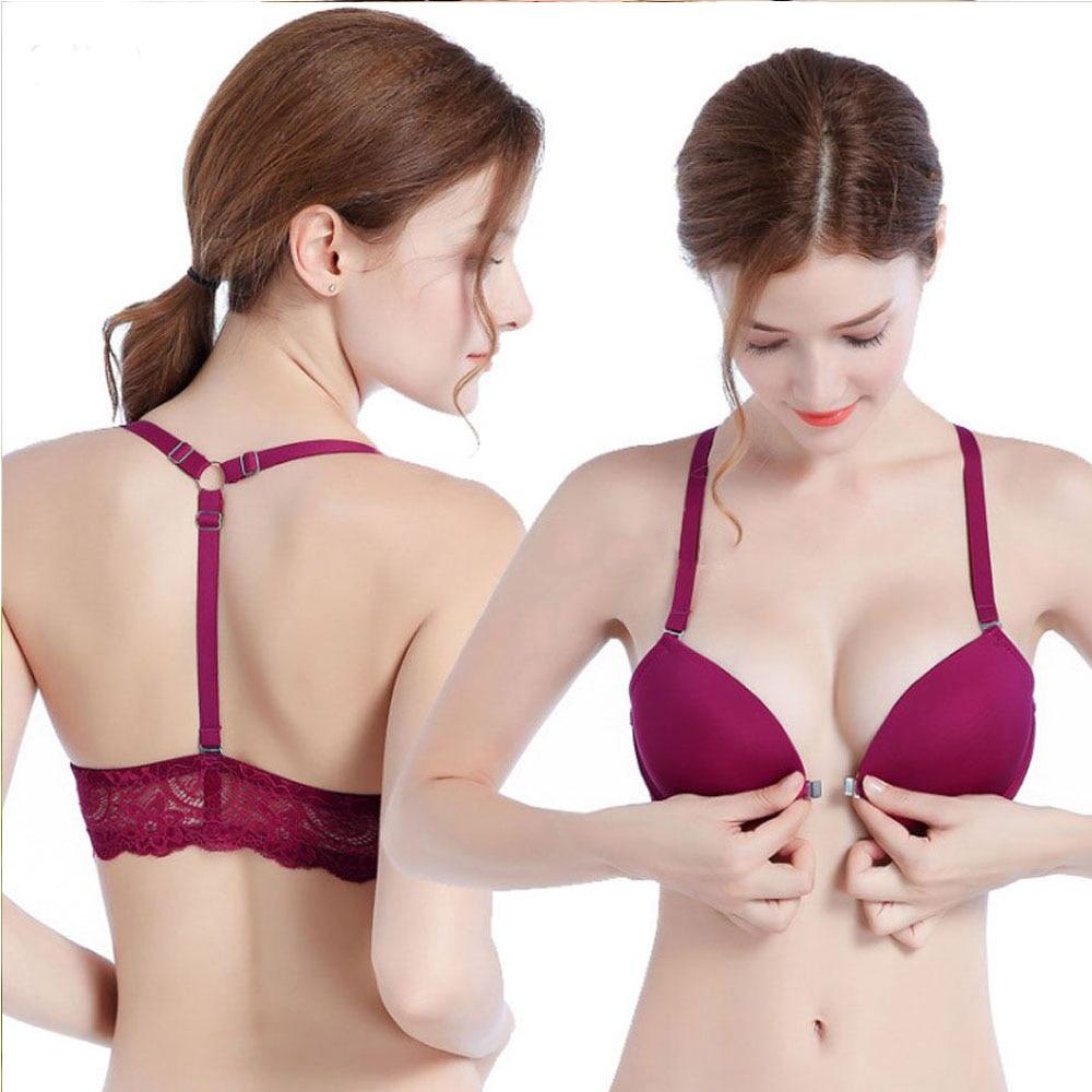 Womens   Bra     Brief     Sets   Sexy Underwear Push Up   Bra     Set   Front Closure Y-line Straps Intimates Underwire Lingerie Panty   Bras     Set   Top