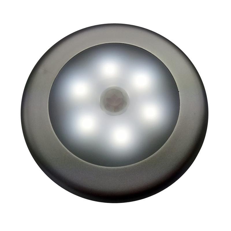 Motion-sensing Cordless Battery Powered LED Night Light Lamp Wall Light for Hallway Basement Garage Bathroom Cabinet Closet